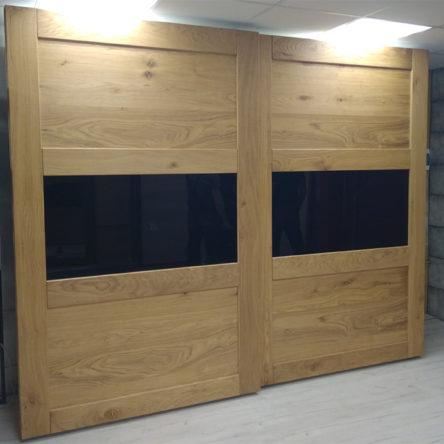 Двери-купе «Меридиан» из массива дуба