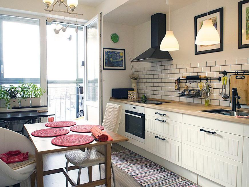 Кухня без навесных шкафов Рис.1